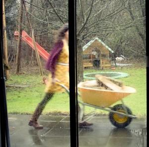 buiten hout regen
